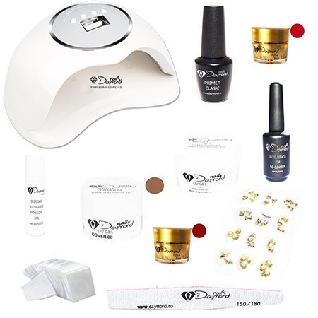 Kit Unghii Gel Daymond Nails Nr.08