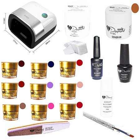 Kit Unghii Gel Daymond Nails Nr. 04
