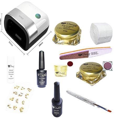 Kit Unghii Gel Daymond Nails 01