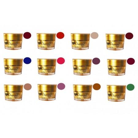 Kit gel color Daymond Nails 12 mixt