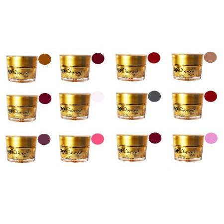 Kit gel color Daymond Nails 12