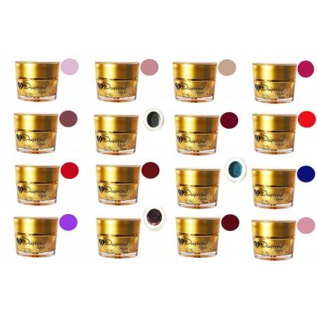 Set Gel Color Daymond Nails new 16 bucati