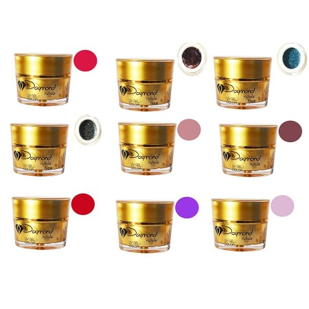 Set Gel Color Daymond Nails 09 new