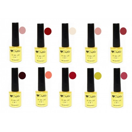 Set Oja Semipermanenta Daymond Nails 10 new plus